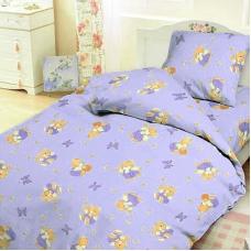 Детское постельное белье из бязи 1.5 сп 1332/3 За медом сиреневый