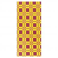 Полотенце вафельное 35/70 см 397/3 Новая клетка цвет бордовый