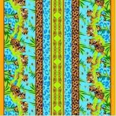 Вафельное полотно набивное 80 см 325Б цвет голубой