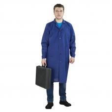Халат мужской рабочий рукав длинный бязь синяя 56-58 рост 180-188