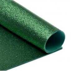 Фоамиран глиттерный 2 мм 20/30 см уп 10 шт MG.GLIT.H005 цвет зеленый