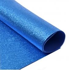 Фоамиран глиттерный 2 мм 20/30 см уп 10 шт MG.GLIT.H007 цвет синий