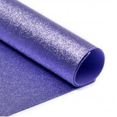 Фоамиран глиттерный 2 мм 20/30 см уп 10 шт MG.GLIT.H015 цвет светло-сиреневый