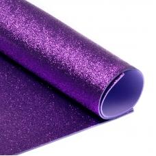 Фоамиран глиттерный 2 мм 20/30 см уп 10 шт MG.GLIT.H017 цвет сиреневый