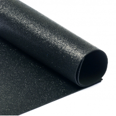 Фоамиран глиттерный 2 мм 20/30 см уп 10 шт MG.GLIT.H019 цвет черный