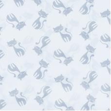 Ткань на отрез бязь плательная 150 см 1871/2 Серые котята на белом