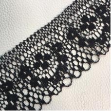 Кружево гипюр 4 см черный 187 1  м