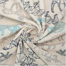 Ткань на отрез интерлок Оригами 495-21
