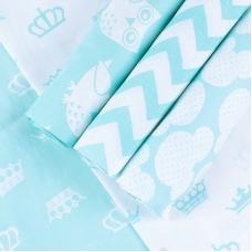 Набор отрезов ткани 50/50 +/- 5 см 5 шт 115 цвет мята