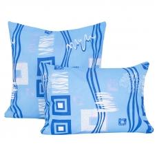 Наволочка бязь набивная 100 гр/м2 348/1 Пикассо цвет голубой в упаковке 2 шт 60/60