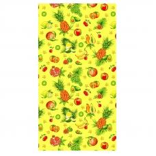 Полотенце вафельное пляжное 348/3 Тропические фрукты 150/75 см