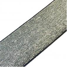 Резинка декоративная 2283 черный с люрексом 4см 1 метр
