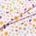 Маломеры бязь плательная 150 см 559/2 Звездочки и лапки цвет сирень 0.9 м