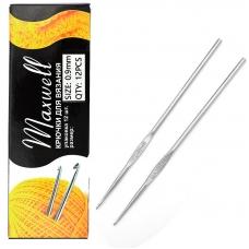 Крючок для вязания Maxwell Black артТВ-CH03  0,9 мм