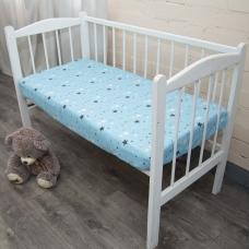 Простыня на резинке бязь детская 0421/1 цвет голубой 60/120/12 см