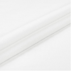 Ткань на отрез фланель 90 см цвет белый