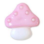 Пуговица детская сборная Гриб 16 мм цвет розовый упаковка 24 шт