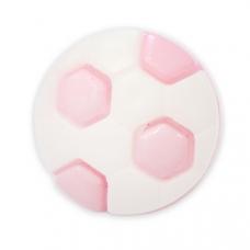 Пуговица детская сборная Мяч 16 мм цвет св-розовый упаковка 24 шт