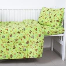 Постельное белье в детскую кроватку 1634/4 с простыней на резинке