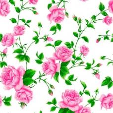Ткань на отрез Тик 80 см 170 гр/м2 5232-1 Розы