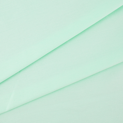 Ткань на отрез поплин гладкокрашеный 220 см 115 гр/м2 70035/1 цвет ментоловый Актив