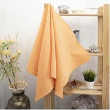 Полотенце вафельное банное Премиум 150/75 см цвет 131/3 оранжевый