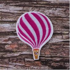 Термоаппликация ТАВ 2835 воздушный шар розовый 7,5*5,5см