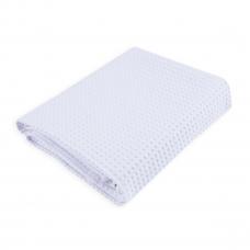 Полотенце вафельное банное Премиум 150/75 см белый
