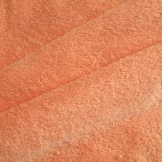 Ткань на отрез махровое полотно 150 см 350 гр/м2 цвет персик