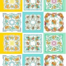 Ситец 95 см набивной арт 44 Тейково рис 21218 вид 1 Цветочная поляна