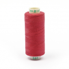 Нитки бытовые Dor Tak 40/2 366м 100% п/э, цв.591 розовый