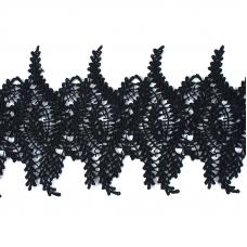 Кружево плетеное СЕВЕР черное SK-139 13см упаковка 5м