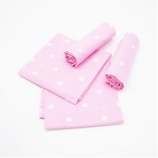 Набор детских пеленок поплин 4 шт 73/120 см 1740/4 цвет розовый
