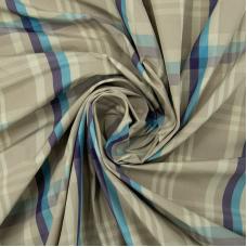 Ткань на отрез дюспо КТ0206 Клетка цвет голубой