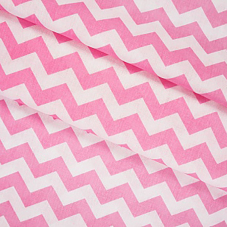 Бязь плательная 150 см 8059/1 Зиг-заг цвет розовый