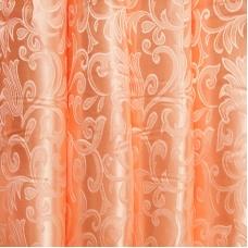Портьерная ткань 150 см на отрез 29 цвет персик вензель