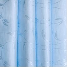Портьерная ткань 150 см на отрез 17 цвет голубой ветка-лист