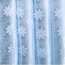 Портьерная ткань 150 см на отрез 17 цвет голубой цветы