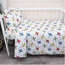Постельное белье в детскую кроватку из поплина 2014