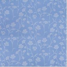 Ткань на отрез Тик 220 см 145 +/- 5 гр/м2 Ромашки цвет голубой серебро 215
