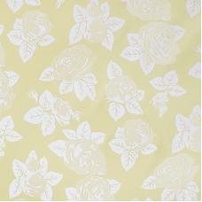 Ткань на отрез Тик 220 см 145 +/- 5 гр/м2 Розы цвет желтый F114