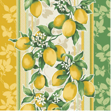 Ткань на отрез вафельное полотно 50 см 170 гр/м2 198561 Лимоны