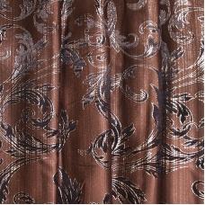 Портьерная ткань с люрексом 150 см на отрез Х7187 цвет 14 коричневый ветка