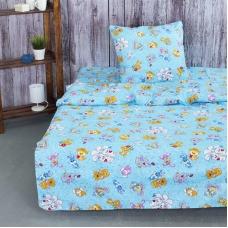 Детское постельное белье из бязи 1.5 сп 4605/1 Солнца лучик золотой голубой
