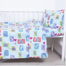 Постельное белье в детскую кроватку 1469 с простыней на резинке