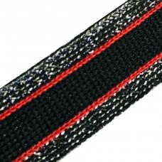 Лампасы №77 черный красный люпекс себро 2 см 1 метр