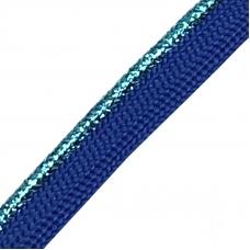 Лампасы №62 синий бирюзовый  кант с люриксом 1,2см 1м