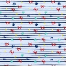 Ткань на отрез интерлок пенье Крабики R335