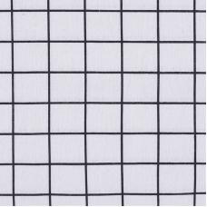 Ткань на отрез лен TBY-DJ-24 Клетка цвет серый