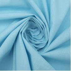 Ткань на отрез поплин гладкокрашеный 115 гр/м2 220 см цвет голубой
